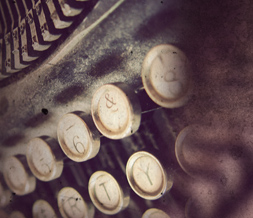 Vintage Typewriter Twitter Background - Industrial Typewriter Theme for Twitter Preview