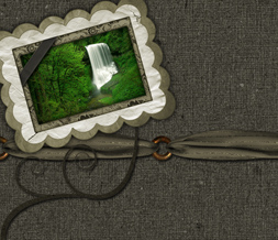 Vintage Waterfall Twitter Background - Scenic Waterfall Theme for Twitter