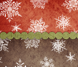 Red & Brown Snowflakes Twitter Background - Cute Snowflake Theme for Twitter