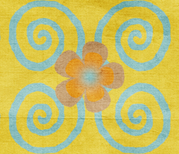 Blue & Yellow Flower Pattern Twitter Background